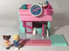 Vintage Polly Pocket Drive In Burger Restaurant Playset 1994 Dolls Near Complete