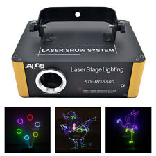 SD Program Customize RGB Animation Scan Laser ProjectorDMX DJ Party Stage Lights