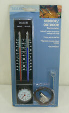 NEW Taylor Indoor / Outdoor Thermometer 5329 Large Easy To Read Face Hygrometer