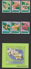 Benin - 1997 Orchids set & sheet - F/U - SG 1638/43, MS1644