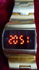 MEN 1980s SONAR RED LED WATCH FULLY WORKING IMMAC RARE