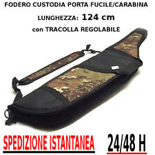 Borsa Fodero Custodia porta Fucile carabina colore camo VEGETATO ITALIANO 124 cm