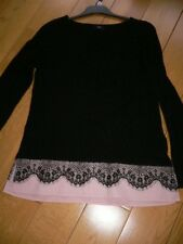 F&F Black Jumper Size 8 (would say 8/10) with Light Pink Detail at Bottom