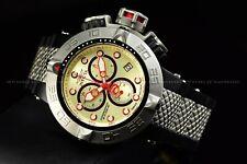 Invicta Men 50mm Subaqua Noma Swiss Chrono Ivory Two Tone Black Silver Watch