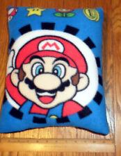 New Nintendo Super Mario Fleece Fabric Pillow - Handmade in the U.S.A.