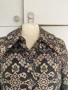 Vintage Brocade/tapestry 1970s Ladies Coat