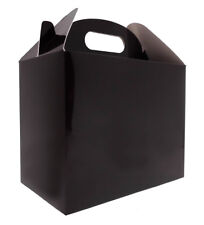 10 x BLACK GABLE GIFT BOX - Gift Bags, Party Bags, Gift Boxes, Gift Packaging