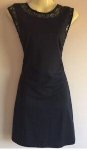 Embellished Black Shift Dress Lace Size 10