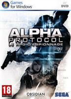 ALPHA PROTOCOL Jeu PC DVD RPG éspionnage Sega Obsidian jeu de rôle