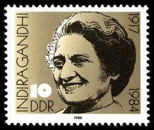 [cf6182] Ddr 1986, series Indira Gandhi (mnh)