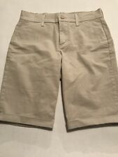 NYDJ Not Your Daughters Jeans Shorts Womens Size 2 Khaki Tan Beige Bermuda