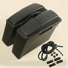 ABS Hard Saddle Bags Bag Trunk For Harley Softail Sportster Dyna Touring Glide