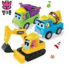 Pinkfong Mini Heavy Vehicle Equipment Car Excavator/Truck Mixer/Dump Truck Toy