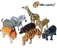 Large Wild Animal Toy Figures - Plastic Tiger, Elephant ETC Set of 8, ebay