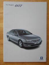 PEUGEOT 607 Range 2002 orig UK Market prestige sales brochure