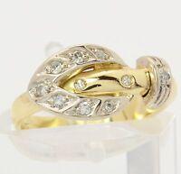 ♦♦Diamant Ring in aus 14kt 585 Gelb Gold mit Diamanten Damen Schmuck Diamantring