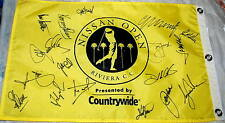 Tiger WOODS COUPLES SCOTT+ Signed NISSAN OPEN Flag *Northern Trust *Monty *Furyk