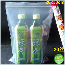 100Pc 20*30cm Zipper Bags 7.87Mil 200Micron Extra Thick Resuable Bags Pass SGS