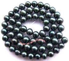 6-7mm Dark Green Freshwater Pearl Loose Beads 14.5''
