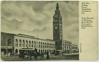 Postcard 1906 Earthquake Ferry Building San Francisco California Undivided Back
