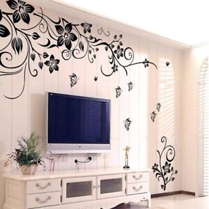 DIY Wall Art Home Room Decal Decoration Romantic Flower Sticker Fashion  Mural