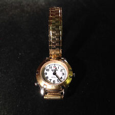 """Guess Gold Tone Round Face 2"""" Stretch Band Wrist Watch"""