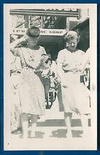 San Antonio Texas tx downtown street scene walkers 1946 real photo postcard RPPC