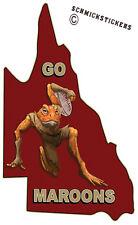 QUEENSLAND STATE OF ORIGIN STICKER GO MAROONS CANE TOAD STICKER #2