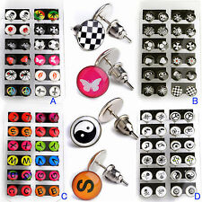 Großhandel 12 paar Ohrstecker Set Damen Nachtleuchtende Ohrringe Ohrschmuck
