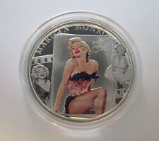 Marilyn Monroe 5 Dollar mit Diamant - Cook Island Silber Münze Silvercoin 2011