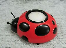 New Never Used 1990's Ladybug 2x4x5 Tea Votive Tin Metal Candle Holder Free S/H