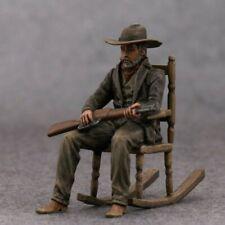 Toy Soldier Gunman Painted Metal Miniature Gunslinger Bandit Figurine 54mm