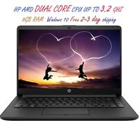 2020 Newest HP Laptop AMD Dual Core CPU 8GB RAM Windows 10 Free 2-3 Day Shipping