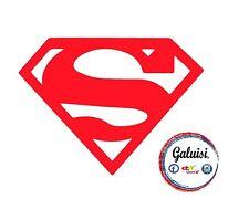 ADESIVO SUPERMAN STICKER MARVEL per AUTO, MOTO, BICI, PARETE, CASCO...