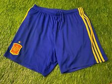 SPAIN NATIONAL TEAM 2016-2017 FOOTBALL SOCCER SHORTS HOME ADIDAS ORIGINAL SIZE L