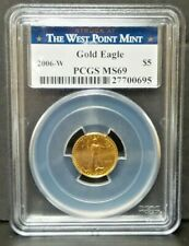 2006 (W) $5 American Gold Eagle 1/10 oz. PCGS MS69 West Point Label V1345