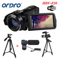 ORDRO 3Inch Full HD 1080P 24MP Digital Video Camera DV Camcorder+VCT-520 Tripod
