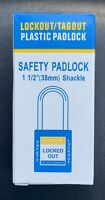 """Jojomark Lockout/Tagout Plastic Padlock Safety 1.5"""" 38 mm Shackle Numbered Red"""