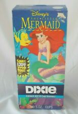 Little Mermaid 5oz Dixie Cups VTG Disney 1992 Walt Disney's NOS Sealed 100 Ct.