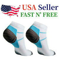 5 Pairs Compression Socks Plantar Fasciitis Arch Ankle Running Support Men Women