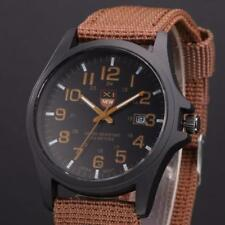 Fashion Date Mens Watch Stainless Steel Military Army Sports Analog Quartz Wrist