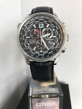 CITIZEN MEN'S World Time Eco-Drive Chronograph24 City Time Show Watch.AT0361-57E