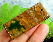 Jasper Ocean Variolite Pendant Stone Delicate 48x20x7mm Gem Reiki Chakra