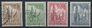 Berlin Nr. 106-109 gestempelt, Gedächtniskirche (80119)