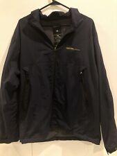 Nautica Competition Full Zip Nylon Jacket Navy Long Sleeve Size Medium