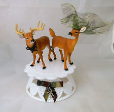 Wedding Cake Topper Deer Hunter Buck & Doe with Swaroski Wedding Cake Topper
