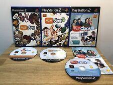 Playstation 2 (ps2) Spiele-Eye Toy Play 1 & 2 und Chat Light selten