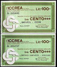 ICCREA 8/2/1977 EMPORIO ZAMPARINI ZUGLIANO-EMPOFIL UDINE  L.100 FDS