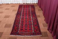 3x10 Vintage Oriental Hand Knotted Traditional Tribal Wool Runner Area Rug