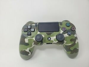 PlayStation 4 PS4 DualShock Wireless Controller Green Camouflage CUH-ZCT2U Works